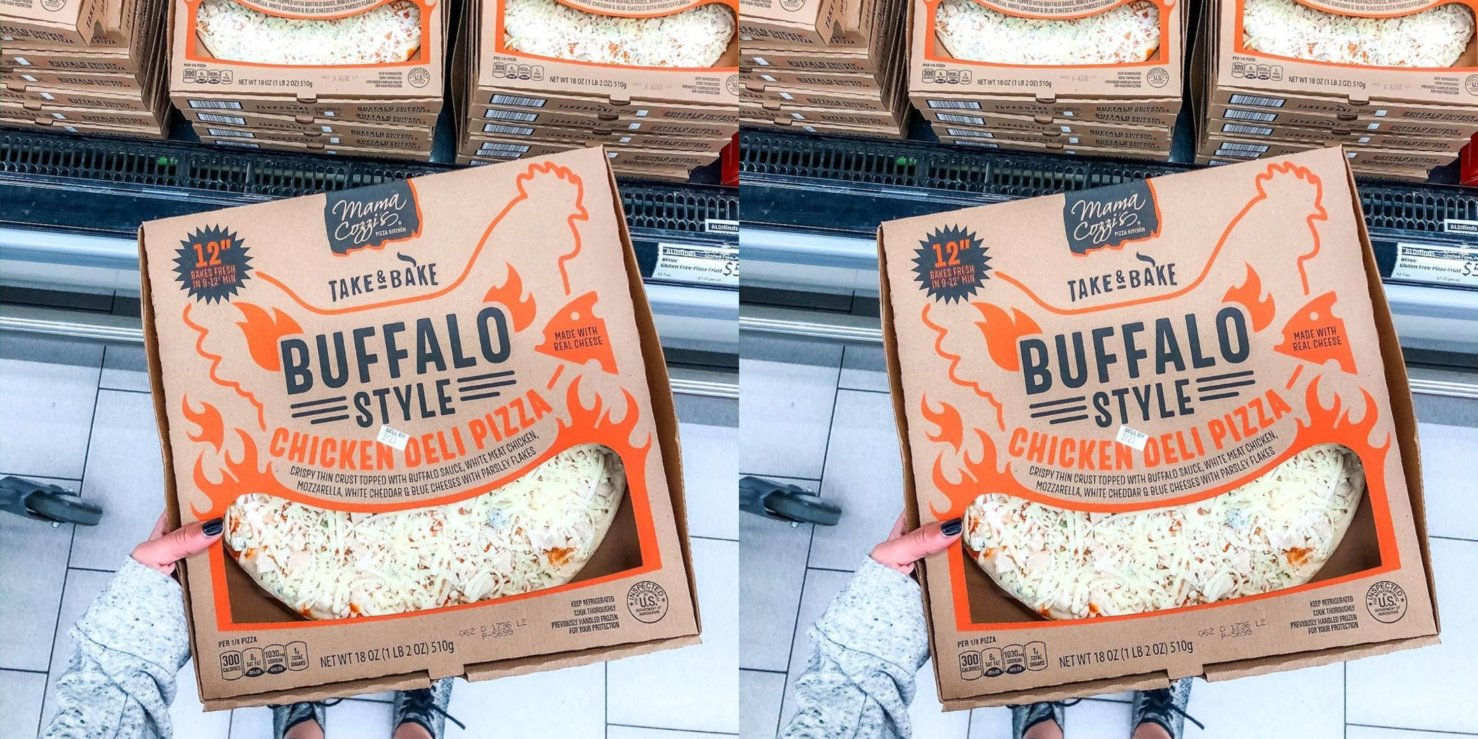 Aldi Is Selling Buffalo Chicken Pizza Covered In Sauce And Cheese