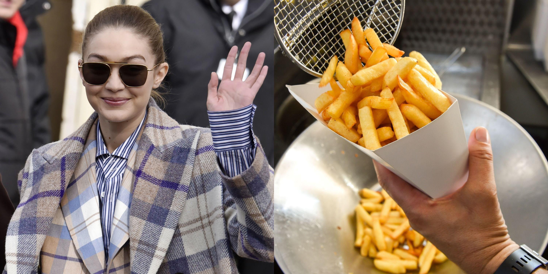 Gigi Hadid Dips Her Fries In Mashed Potatoes