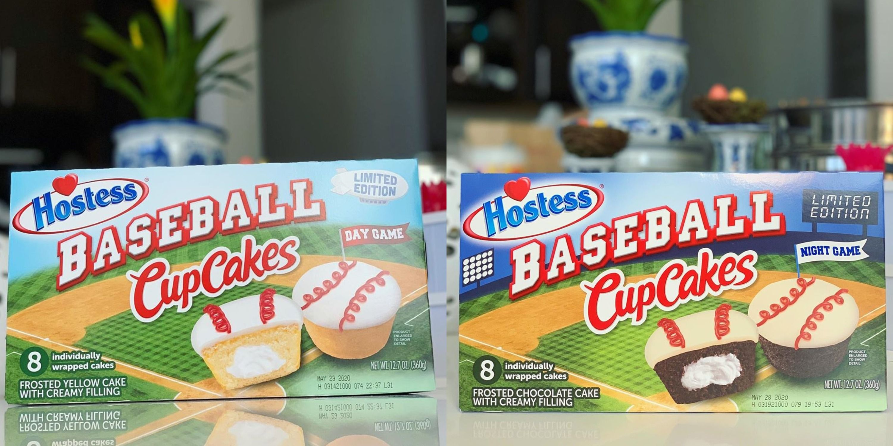 Hostess Has Baseball Cupcakes In 'Day Game' And 'Night Game'