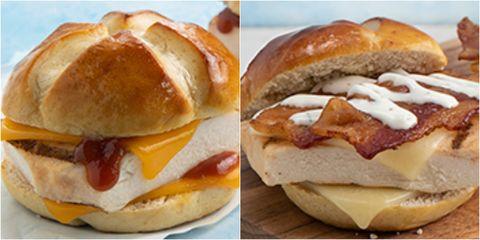 Dish, Food, Cuisine, Breakfast roll, Ingredient, Fast food, Bun, Baked goods, Breakfast sandwich, Produce,