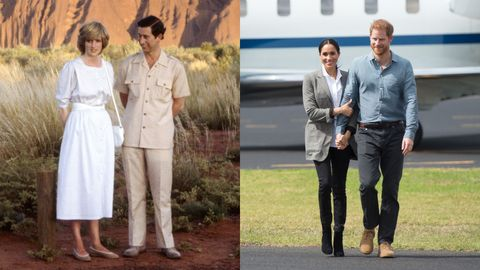 charles diana ayers rock  the duke and duchess of sussex visit australia  day 2
