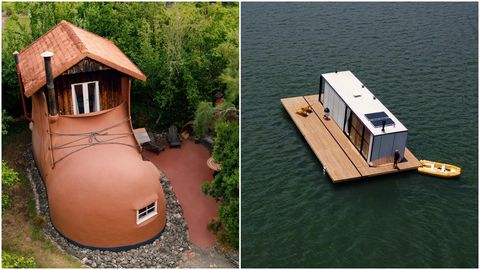 airbnb home floating on water and shoe home
