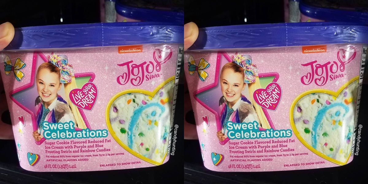 JoJo Siwa Has Her Own Sugar Cookie Ice Cream Flavor And It's Swirled With Purple And Blue Frosting