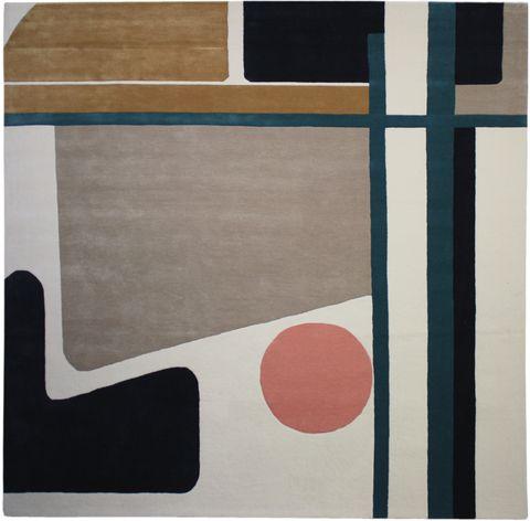 Rectangle, Brown, Line, Modern art, Design, Pattern, Circle, Square, Beige, Tile,