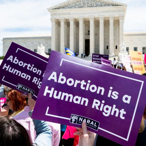 A placard saying, Abortion is a Human Right, seen during the...