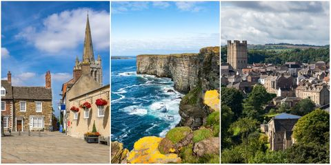 Nature, Landmark, Tourism, Town, Natural landscape, Travel, Coast, Historic site, Collage, Tourist attraction,