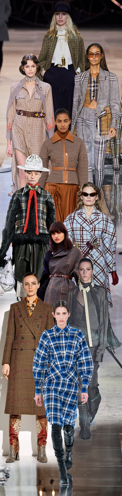 Fashion, People, Tartan, Plaid, Pattern, Design, Outerwear, Fashion design, Haute couture, Vintage clothing,