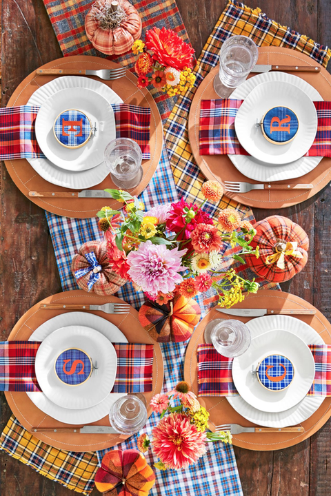 plaid thanksgiving decorations