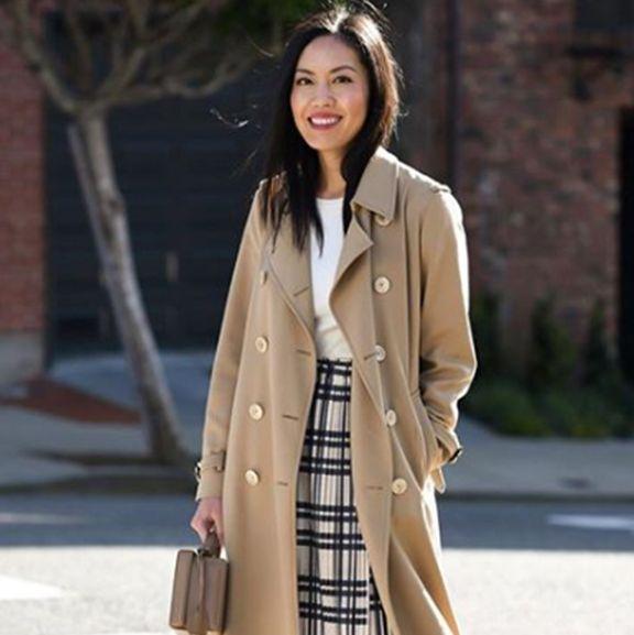 plaid skirt outfit ideas