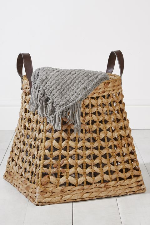 Plaited storage basket