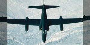 The top secret U-2 plane in flight.