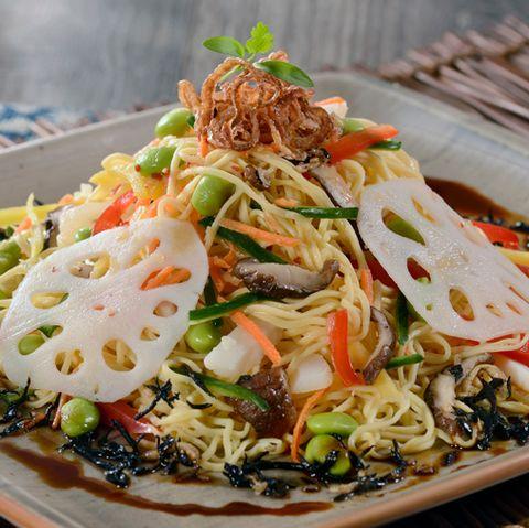 Dish, Food, Cuisine, Ingredient, Produce, Recipe, Mie goreng, Shirataki noodles, Karedok, Noodle,