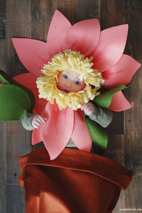 baby flower costume diy