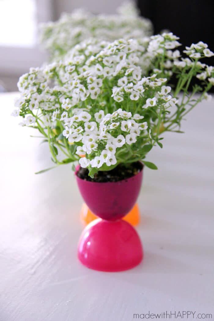 easter egg flower pot