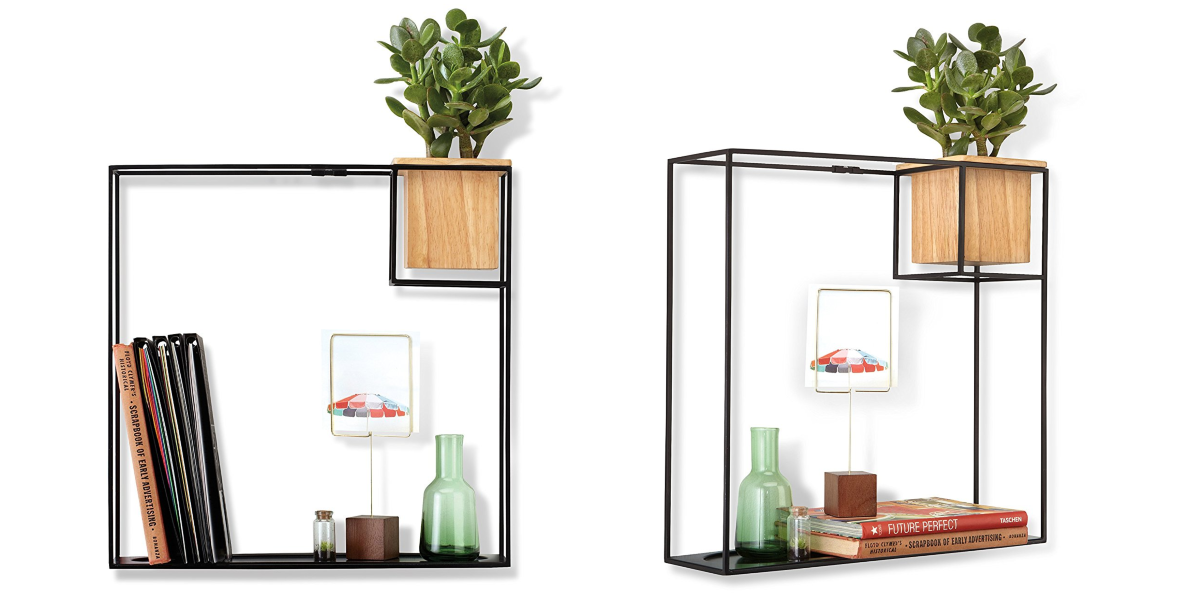 This Umbra Floating Shelf Has A Built In Succulent Planter Cool Floating Shelves