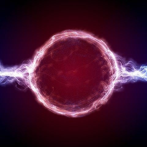 plasma flowing from ball, illustration