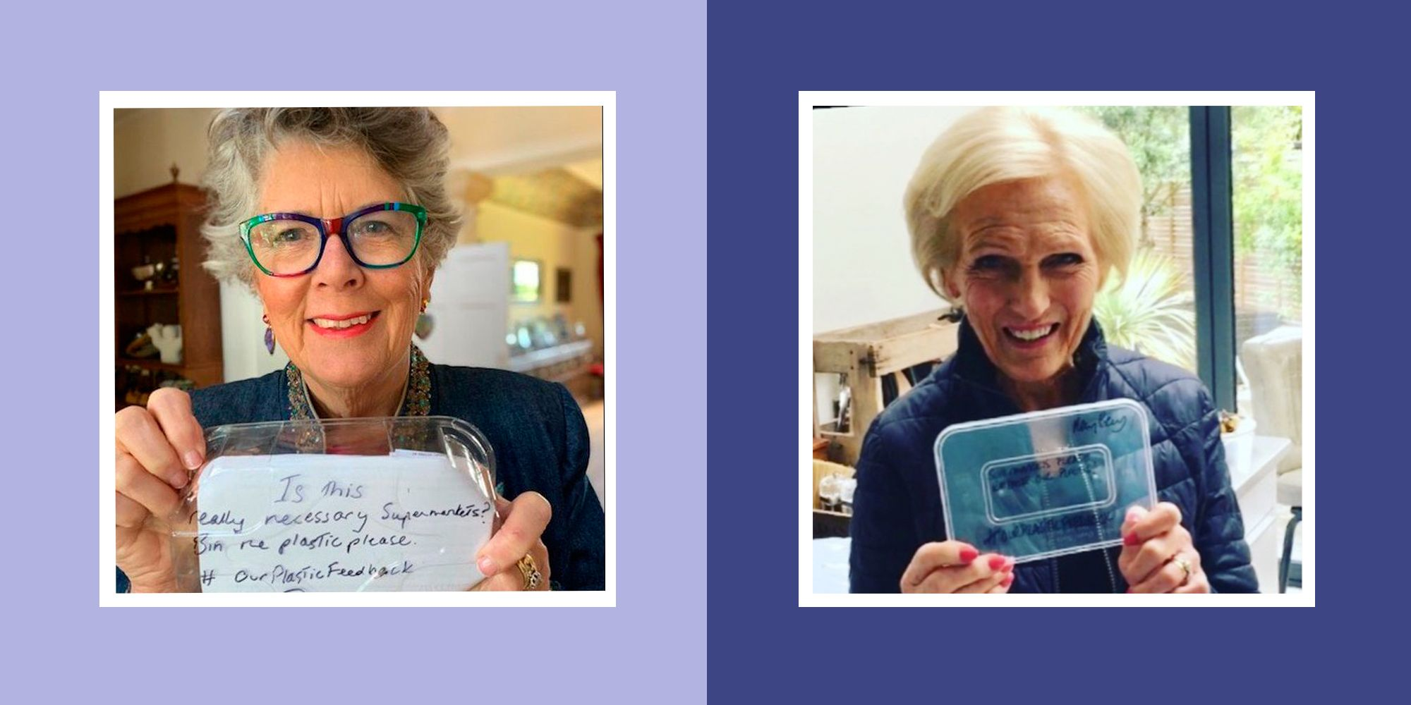 #OurPlasticFeedback campaign: Sir David Attenborough, Mary Berry and Prue Leith speak out