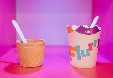 Pink, Cup, Spoon, Food, Plastic, Take-out food, Drinking straw, Cutlery, Cuisine, Tableware,