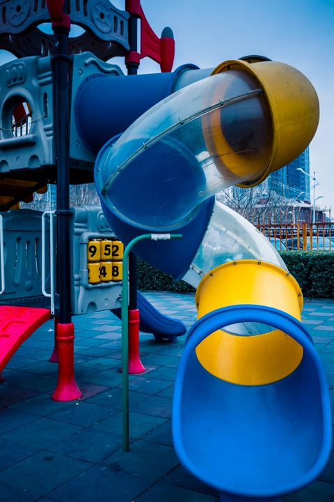 playground safety plastic slide