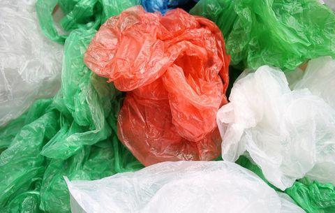 Plastic shopping bags padding