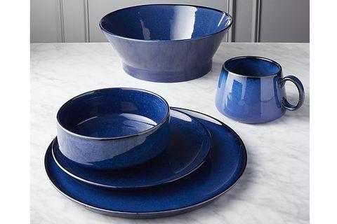 Cobalt blue, Blue, Dinnerware set, earthenware, Dishware, Product, Serveware, Tableware, Porcelain, Pottery,