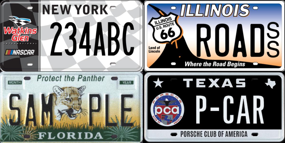 the 18 coolest license plate designs. Black Bedroom Furniture Sets. Home Design Ideas