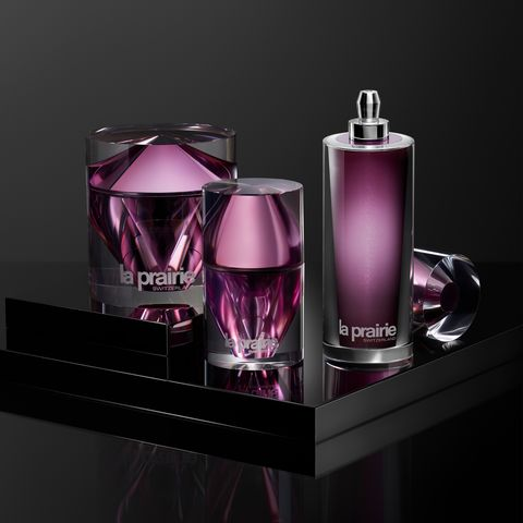 Perfume, Product, Purple, Violet, Pink, Magenta, Cosmetics, Liquid, Material property, Glass bottle,