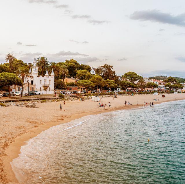 sant pol beach in catalonia, spain