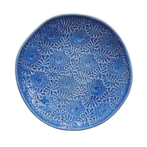 Menaje: Plato de gres con detalles en relieve, de Rice