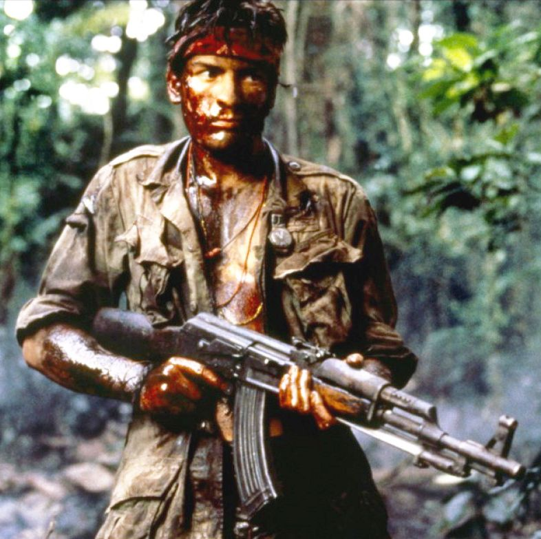 Platoon Charlie Sheen stars as a young recruit who gives up his privileged spot in college to volunteer for duty in Vietnam. He quickly learns he is but a number rather than a vital player in the conflict, and he suffers a psychological break after witnessing the massacre at the hands of fellow soldiers.