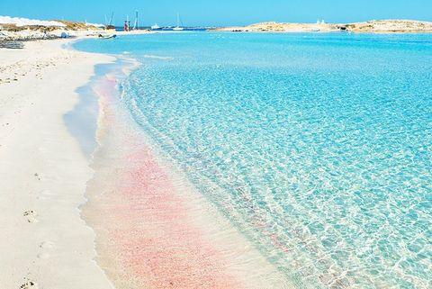 playa de ses illetes spain pink sand