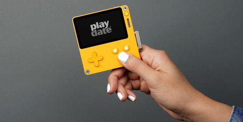 Finger, Yellow, Gadget, Hand, Technology, Electronic device, Nintendo ds accessories, Thumb,