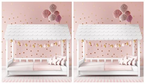 Kids' bed and playhouse