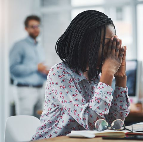 millennial burnout -woman looking burned out
