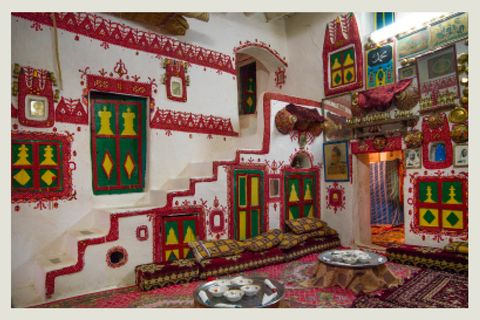 traditional house decoration in the old town, tripolitania, ghadames, libya