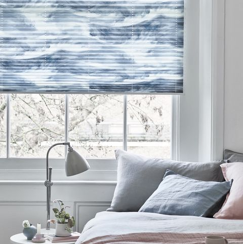 house beautiful ripple blue pleated blinds at hillarys