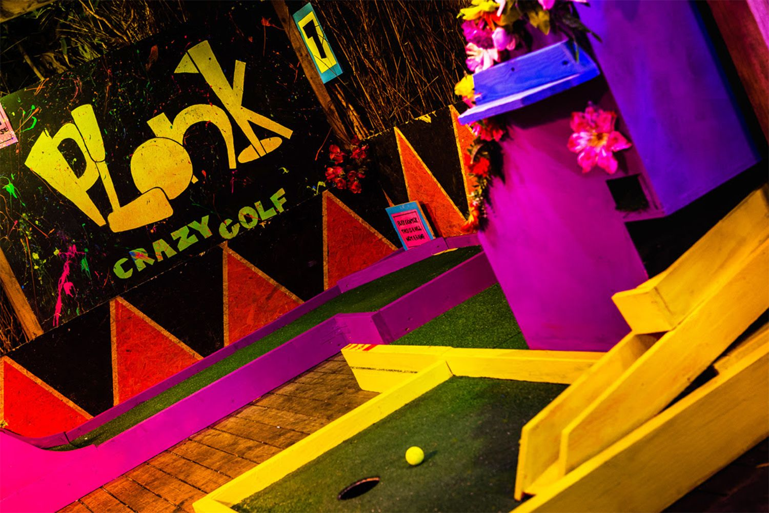 Plonk at Peckham Levels,London,  pop up crazy golf