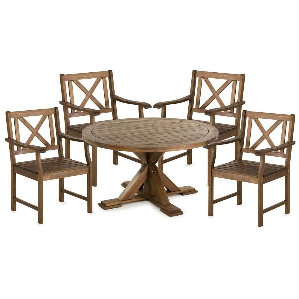 Plow U0026 Hearth Claremont Eucalyptus Round Dining Table And Chairs