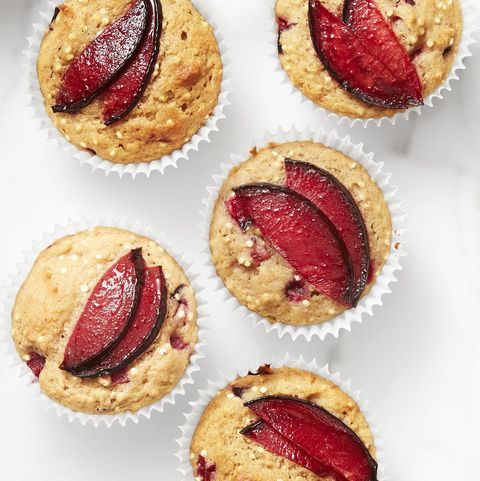 Breakfast In Bed - Plum Spiced Quinoa Muffins