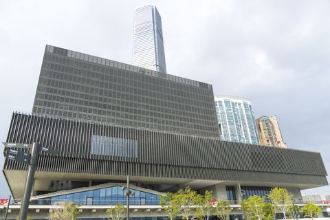 m plus museum located in west kowloon cultural district, hong kong