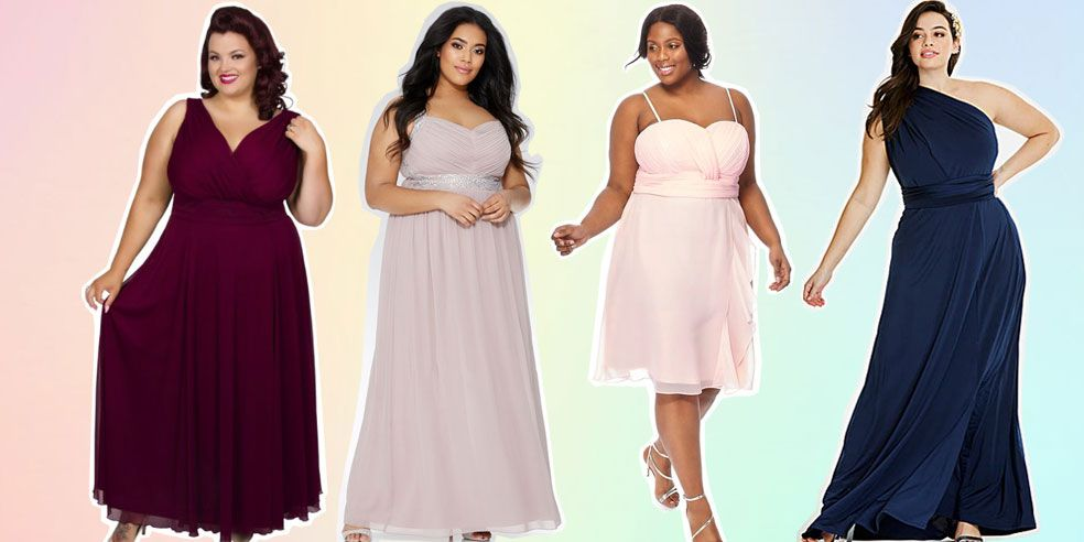 Wedding Gown Designs For Chubby: Best Plus-Size Bridesmaid Dresses 2018