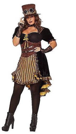 plus size costumes steampunk lady