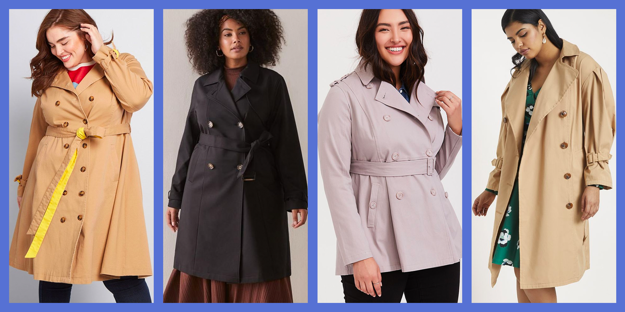 9 Best Plus Size Trench Coats That Are So Chic You'll Hope for Rain