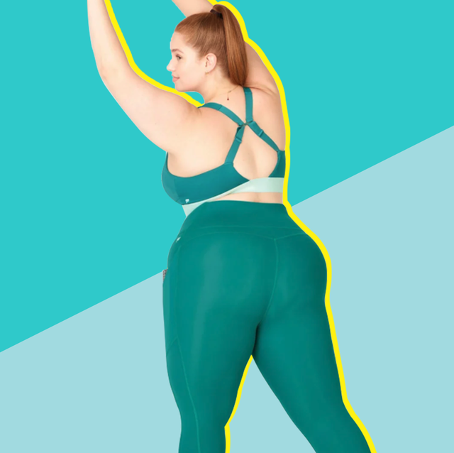 woman in plus size workout clothing set