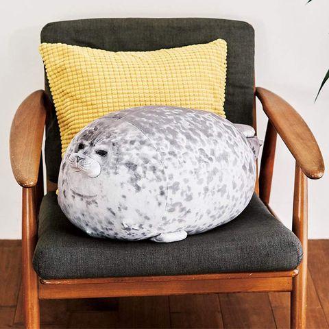 Furniture, Pillow, Cushion, Throw pillow, Chair, Bean bag chair, Textile, Room, Couch, Linens,