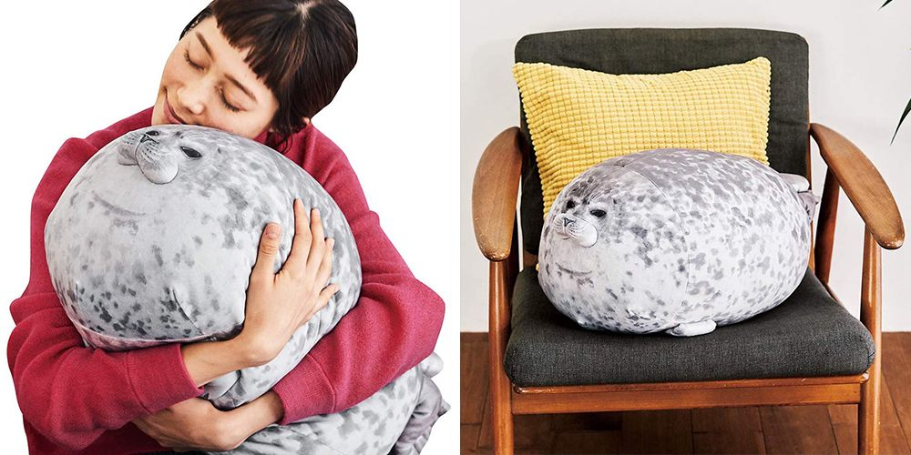This Seal Pillow Is So Squishy and Adorable That You'll Want to Cuddle It All Night