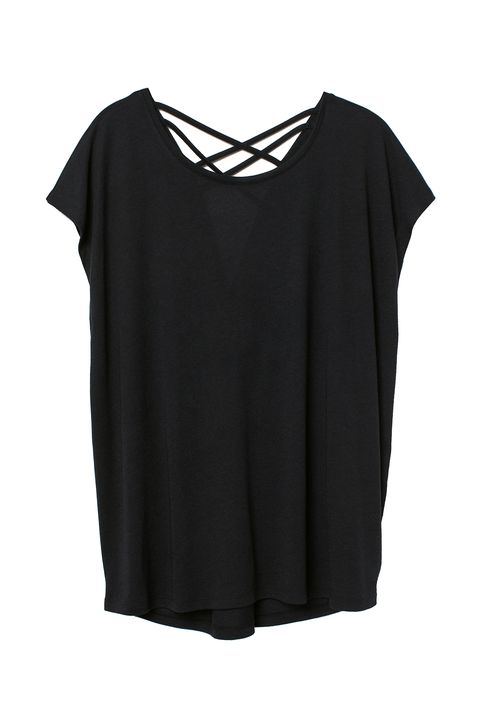 plus size gym wear - H&M cross back t shirt plus size