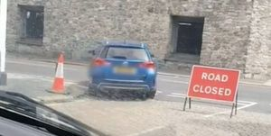 driving into plymouth half