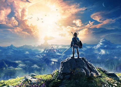 Sky, Mountain, Cloud, Cg artwork, Mountain range, Screenshot, Illustration, Digital compositing, Photography, Summit,