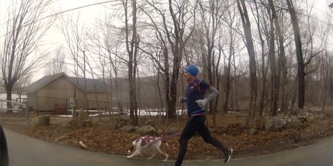 Nate Jenkins running with his dog